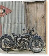Indian Chout At The Old Okains Bay Garage 2 Wood Print