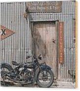Indian Chout At The Old Okains Bay Garage 3 Wood Print
