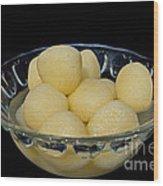 Indian Dessert - Rasgulla Wood Print