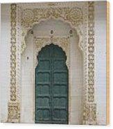 Indian Doorway Wood Print