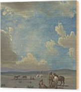 Indian Encampment Wood Print