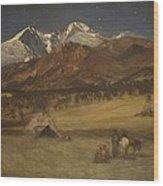 Indian Encampment - Evening Wood Print