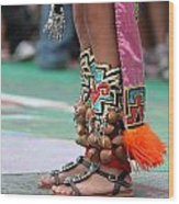 Indian Feet Wood Print