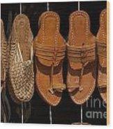 Indian Footware Wood Print