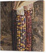 Indian Harvest Corn Wood Print