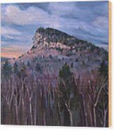 Indian Head In Lincoln New Hampshire Wood Print