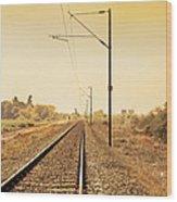 Indian Hinterland Railroad Track Wood Print
