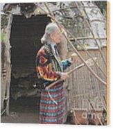 Indian Lacrosse Wood Print