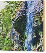 Indian Ladder Falls 2 Wood Print