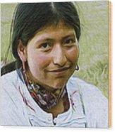 Indian Maid Wood Print