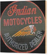 Indian Motocycle Dealer Wood Print