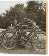 Indian Camelback Motorcycle Circa 1908 Wood Print