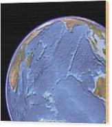 Indian Ocean, Sea Floor Topography Wood Print