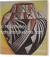 Indian Pottery Wood Print