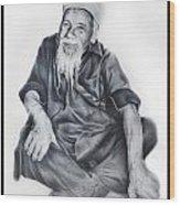 Indian Priest Wood Print