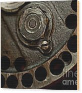 Indian Racer Crankshaft Fly Wheel Wood Print