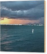 Indian River Lagoon Florida Storm Wood Print