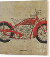 Indian Scout 1928 Wood Print by Pablo Franchi