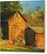 Indian Summer In October Wood Print