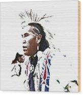 Indian Warrior Wood Print by Robert Jensen