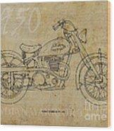 Indian Warrior Tt 1950 Wood Print