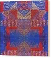 Indian Weave Abstract Wood Print