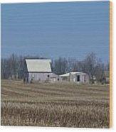 Indiana Barns Wood Print