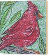 Indiana Cardinal Redbird Wood Print
