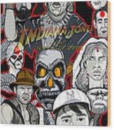 Indiana Jones Temple Of Doom Wood Print by Gary Niles