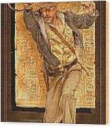Indiana Jones Wood Print