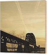 Indiana Ky Bridge Wood Print by Off The Beaten Path Photography - Andrew Alexander