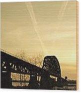 Indiana Ky Bridge Wood Print