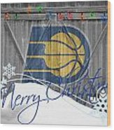 Indiana Pacers Wood Print by Joe Hamilton
