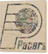 Indiana Pacers Poster Art Wood Print