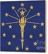 Indiana State Flag Wood Print by Pixel Chimp