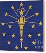 Indiana State Flag Wood Print