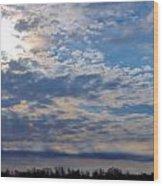 Indiana Sunrise Wood Print