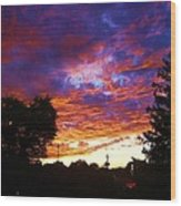 Indiana Sunset Wood Print
