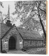 Indiana University Beck Chapel Wood Print by University Icons