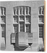 Indiana University Myers Hall Wood Print by University Icons