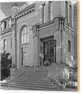 Indiana University Student Building Entrance Wood Print