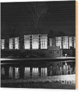 Indiana War Memorial On The Canal Wood Print
