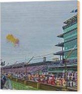 Indianapolis 500 May 2013 Balloons Race Start Wood Print