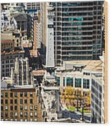 Indianapolis Aerial Picture Of Monument Circle Wood Print