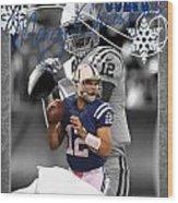 Indianapolis Colts Christmas Card Wood Print