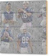 Indianapolis Colts Legends Wood Print