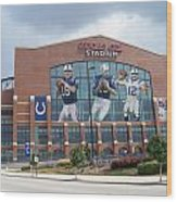 Indianapolis Colts Lucas Oil Stadium Wood Print