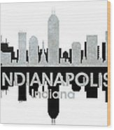 Indianapolis In 4 Wood Print