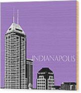 Indianapolis Indiana Skyline - Violet Wood Print