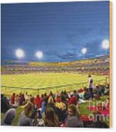 Indianapolis Indians Wood Print by David Haskett